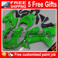 For Kawasaki zx6r fairing - Body for KAWASAKI NINJA ZX R ZX R ZX6R ZX R ZX636 Green fairing G2084
