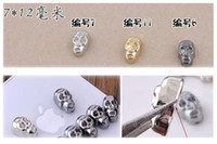 Wholesale retail DIY shiny skull rivet metal rhinestone beads for cellphone mobile phone cases scrapbook jewelry decorations nail art gift craft tools