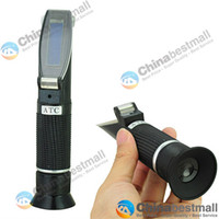 Wholesale Portable Rubber handle Brix Beer Brewing refractometer RSGN ATC with BUILT IN CALIBRATION KNOB Chinabestmall