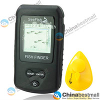 Wholesale 2 quot LCD Sonar RF Portable Fish Finder Wireless Color LCD Fish Finder Fishing Tools
