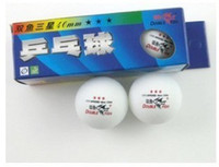 Wholesale Double Fish table tennis ball star table tennis ball yellow and white top sale