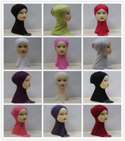 Wholesale Fashion Mercerized Cotton Muslim Headscarf Cross Cap Solid Color Women s Headscarfs Colors Summer Top m002