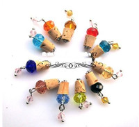 Wholesale Glass essential oil bottle necklace natural cork essential oil bottle cork