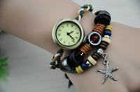 1pcs Antiqued Bronze Watch Triple Layers Hemp Leather Bracel...