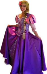 Wholesale Rapunzel princess fairy tale funny party mascot costumes dress