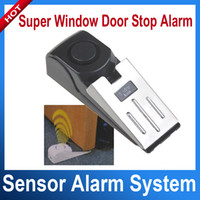 Wholesale 125dB Practical Super Window Door Stop Alarm Burglar Alarm Home Security System Battery Powered