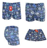 Wholesale Fashion Printing Swimming Trunks Men Boxer Briefs Swim Trunks Underpants One off Swimwear Thicken Beachwear