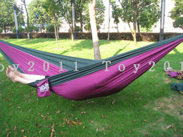 holiday sale 16 Colors Can Choose Promotion Price Parachute 270 X 140cm 500g Double Person Hammock Can Allowable 150 KGS