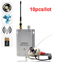 Wholesale 1 inch CCTV Wireless G Security CMOS Color Camera and Radio Receive Kit