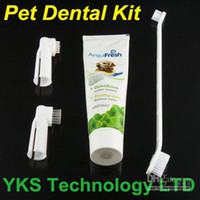 Bathing Products DX001 China (Mainland) New arrival Pet Hygiene Teeth Care Toothbrush with Toothpaste dental Kit for your dog cat free ship