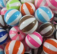 20mm 20mm acrylic beads - 20mm Watermelon Bubblegum Resin Loose Beads Mix Color for Chunky Necklace per