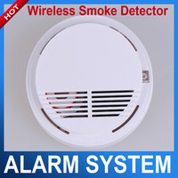 Wholesale Photoelectric Wireless Smoke Detector for Fire Alarm Sensor wireless fire alarm smoke detector