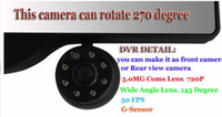 Best 5 inches car GPS with DVR one camera can rotate 270 degree Car Rear View Mirror