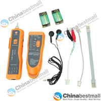 Wholesale XQ Telephone Network Phone Cable Wire Tracker Phone Generator Tester Diagnose Tone Networking Tools Orange