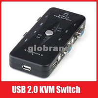 Wholesale GHJB631 New Portable USB KVM Ports Selector VGA Print Auto Switch Box V322
