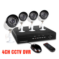 Wholesale Home CH CCTV DVR Day Night Weatherproof Security Camera Surveillance Video System ch Kit
