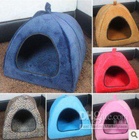 Wholesale small dogs Teddy VIP kennel pet nest cat litter cotton nest dog tent doghouse yurts sh