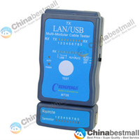 Wholesale M726 LAN USB Cable Tester RJ45 RJ11 RJ12 Network Ethernet CAT5 UTP Multi Modular PC Blue