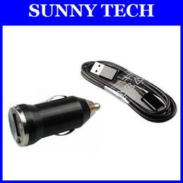 Wholesale 2 en kit de cable del cargador micro USB de sincronización mini cargador del coche para Samsung i9500 Galaxy S4 S3 S2 i9300 N7000 I9082 N7100 S7562 envío libre