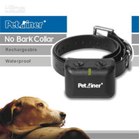 Wholesale Freeshipping Rechargeable and Waterproof Anti Bark Collar with Static and Vibration