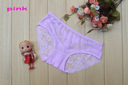2017 new free shipping Pierced lace sexy underwear princess sexy ladies lace panties V-string 5pcs lots