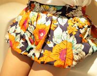 Pantalon court d'été Prix-Filles Mignon Pantalons en mousseline de soie Shorts Fashion plissés été enfant Shorts pour enfants Pantalons Pantalons Lantern Shorts Vêtements pour enfants Mode Fleur