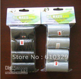 Wholesale Pet products pick up Dogs Cats poop pooper Carbage No printing waste bags cleanup dispenser OPP card