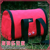 Wholesale Pet Luggage Carrier Dog Bag Cat Bag Handbag Travel Bag With berber Fleece Mat S M L