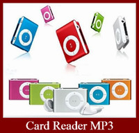 Wholesale Metal Case Mini Clip MP3 Player With Earphone USB Cable DHL EMS Lighting Delivery