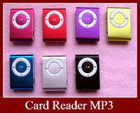 Wholesale DHL Mini Metal Clip MP3 Player With TF MicroSD Card Slot Colors Hotsale