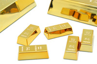 Wholesale Lowest Price mini gold bullion doorstop gold bullion paper weight magnetic holder multi functional gold bul