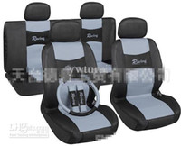 Wholesale Car interior decoration Universal Car Seat Cover Full Set with Airbag Compatible and Rear
