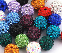 Wholesale 12mm shamballa crystal loose beads Rhinestone mix order per for bracelet earring ring DIY