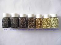 1000pcs/jar je pointe des cheveux de perles de silicone Micro Anneaux liens pour les extensions de cheveux (5.0 x 2.8x3.0mm)