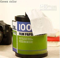 Wholesale Hot sell film strip Tissue Box Creative napkin holder cm color Drop shopping or Ret