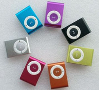 Wholesale Mini Metal Clip MP3 Player With TF MicroSD Card Slot Post