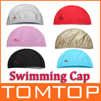 Wholesale 6 Colors Flexible Durable PU Coating Breathable Swim Swimming Cap Hat for Men Women Unisex H9419