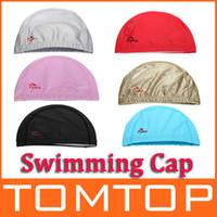 Wholesale 6 Colors Flexible Durable PU Coating Breathable Swim Swimming Cap Hat for Men Women Unisex H9419