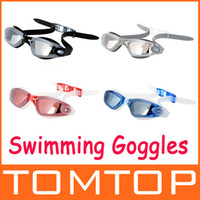 Wholesale 4 Colors Anti fog Coated Swimming Goggles men and women adult swimming goggles UV H9411 Series