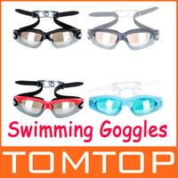 Wholesale 4 Colors Anti fog Coated UV Swimming Goggles men and women adult Swim Goggles Glasses H9412 Series