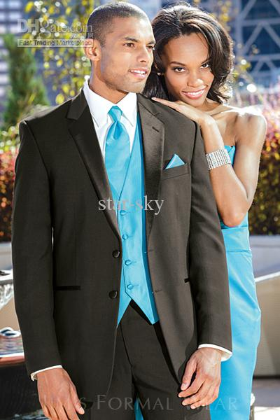 New Popular Groom Tuxedos Wedding Suits Prom Clothing Jacket Pants ...