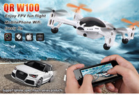 Wholesale Enjoy FPV Walkera QR W100 FPV HD Camera UFO Aircraft RC Wifi IPhone IPad Itouch Control RC Helicopter Quadcopter axis QR W100 Body Kit BNF