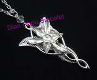 Wholesale The Arwen Evenstar Pendant Crystal stones Necklace two colors from Lord of ring BB10