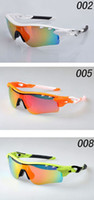 Wholesale 1Pcs Sunglasses Good Quality Men s Cycling Sports Glasses Iridium Vented Lens Eyewear Fashion Sunglasses color Come With Boxes