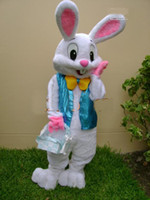 Christmas easter bunny costumes - NEW PROFESSIONAL EASTER BUNNY MASCOT COSTUME Bugs Rabbit Hare Adult Fancy Dress Cartoon Suit Free Sh