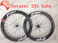 Wholesale Free gifts New arrivel FFWD mm carbon road bicycle bike clincher Tubular wheels wheelset with brake pads Novatec hubs