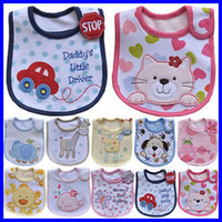 Wholesale Cotton Baby Bibs Waterproof Baby Bibs Brand Infant Saliva Towels Cartoon Baby Feeding Wear Newborn Burp Clothes WZ13