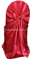 Wholesale Rounded Customized Wedding Chair Covers All Kinds of colors Elastic Polyester Satin Other Materials