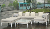 Wholesale outdoor rattan furniture Aluminum and steel frame water proof and UV resist stacking or KD available