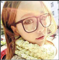 Wholesale 10pcs New fashion Rockabilly Punk Geek Retro Clear Lens Glasses Candy color eyeglasses for men women t5161